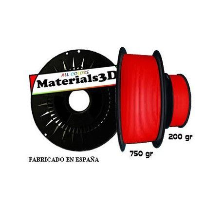 ALL COLORS Materials3D Tenaflex Rojo Diablo