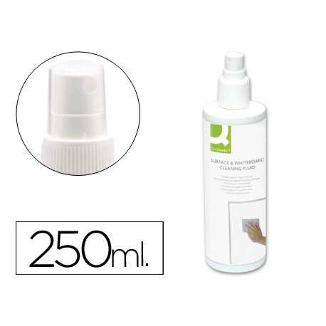 Spray Q-Connect limpiador de pizarras blancas bote de 250 ml.