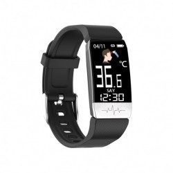 Pulsera Ksix Fitness Band THERMOMETER HR Negro